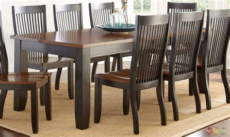 lawton transitional mission style wood dining table in