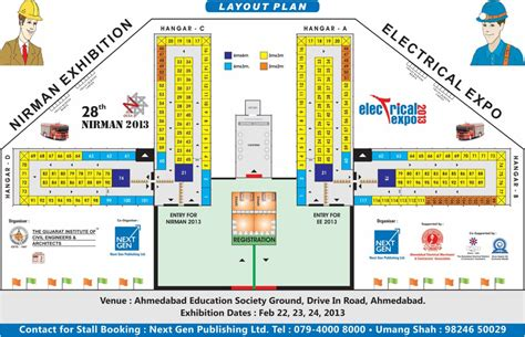 layout of an exhibition 28th nirman exhibition 2013