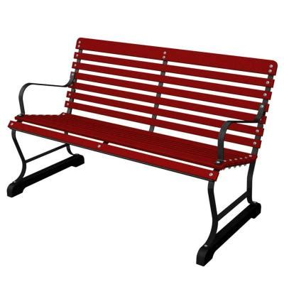 red patio bench ivy terrace 47 in vintage black sunset red patio bench