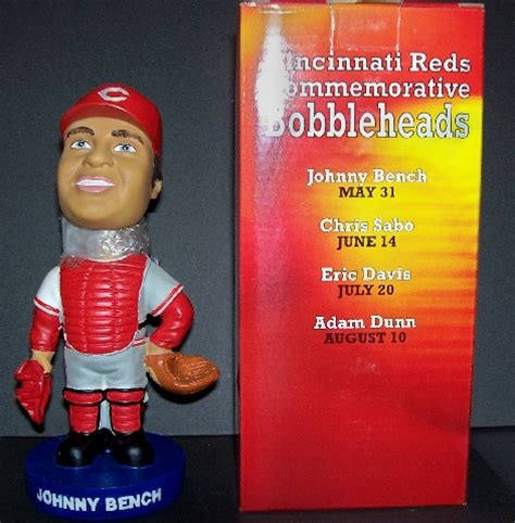johnny bench bobblehead mkmsportstown cincinnati reds johnny bench bobblehead