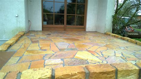 terrasse quarzit abbruch und neubau einer terrasse frank werrmann