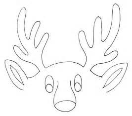 rudolph antlers template best photos of reindeer antlers pattern template