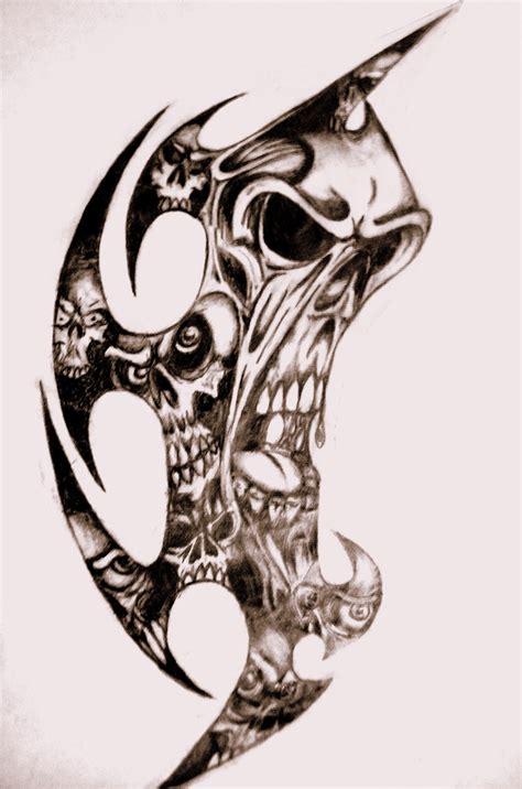 Tribal Skulls By Tatshack1 On Deviantart Skull Tribal Tattoos Designs