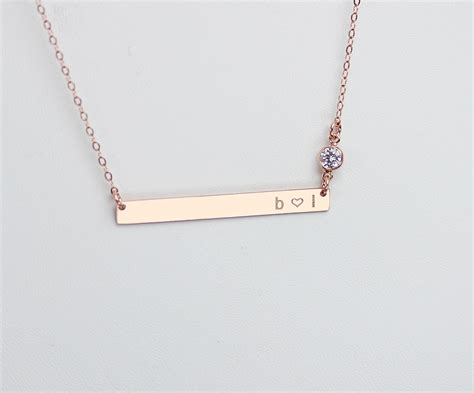 personalized engraved jewelry bar necklace personalized engraved nameplate necklace