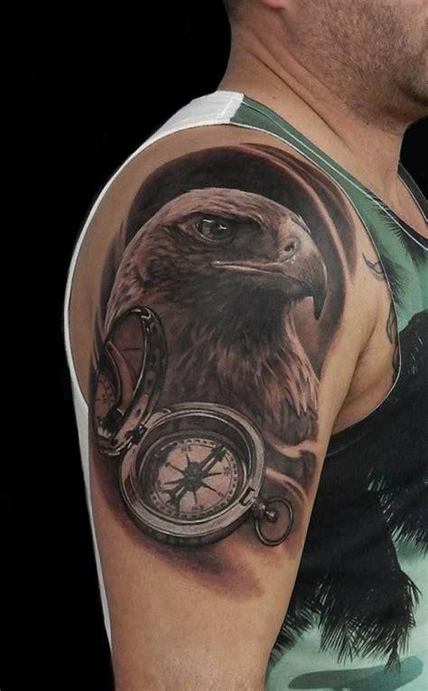 golden eagle tattoo golden eagle compass nikolay