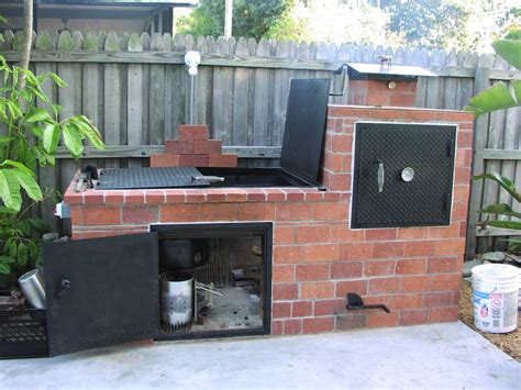 Brick Barbecue Barbecues Bricks And Backyard Backyard Brick Grill