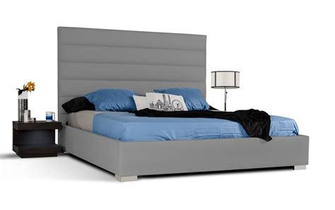 refined leather platform and headboard bed honolulu cdp