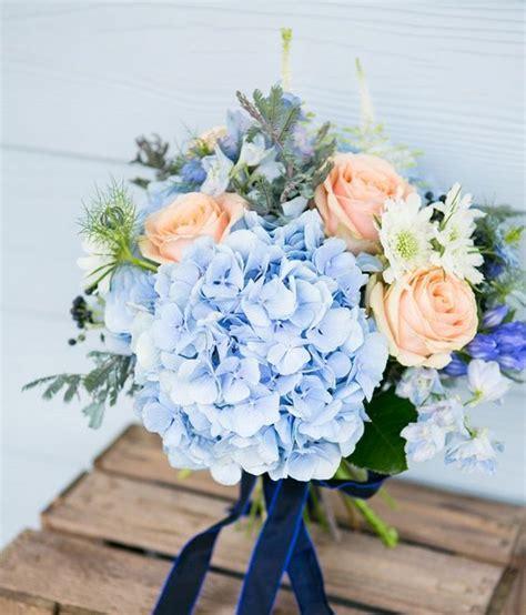 Wedding Bouquet Light Blue by Light Blue Hydrangea Bouquet Www Pixshark Images