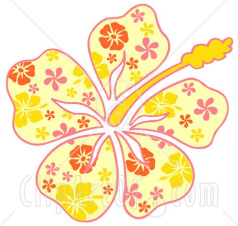 Hawaiian Christmas Clip Art Free Search Results Hawaiian Flower Template