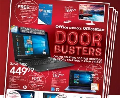 Office Max Dallas by Office Depot Office Max Black Friday Advertisement 2017