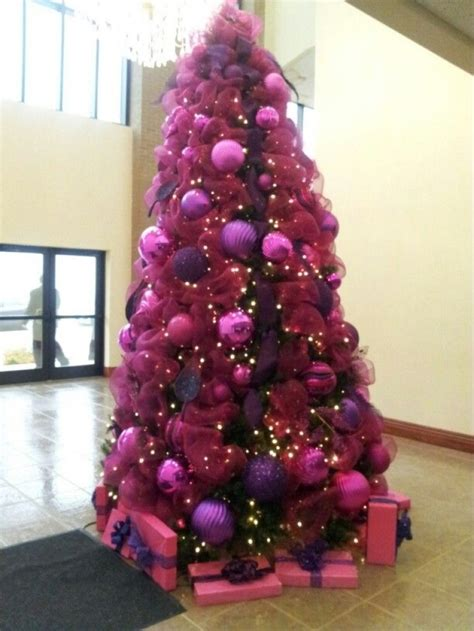 christmas tree decorations purple and pink designcorner