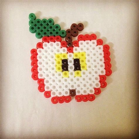 apple perler apple perler by wongyimshan hama hints