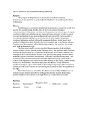 hydration of cyclohexene lab report organic chemistry lab report synthesis of cyclohexene