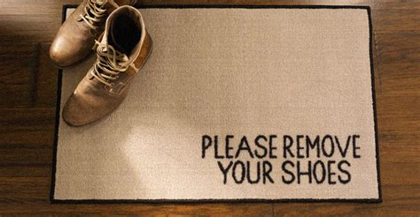 taking shoes off in house etiquette take off your shoes before entering your home science