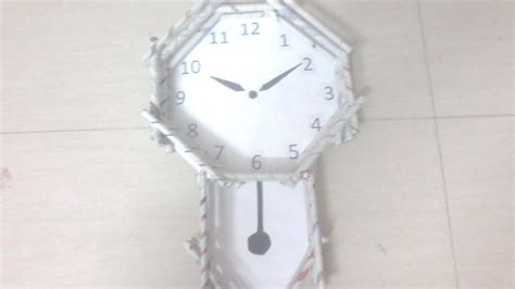 How To Make A Clock Out Of Paper - diy how to make pendulum wall clock using news paper