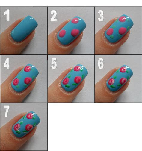 nail art tutorial step by step pictures polished art rose nail art tutorial