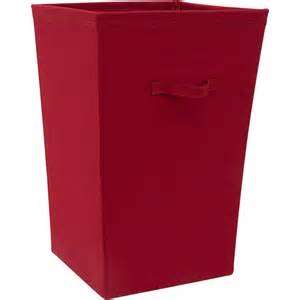 canvas laundry hamper mainstays hamper red sedona walmart com