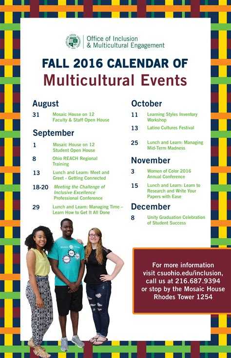 Calendar Of Events Cleveland State