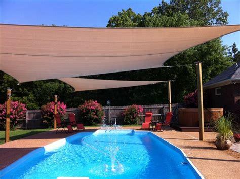backyard sun shade best 20 pool shade ideas on deck shade