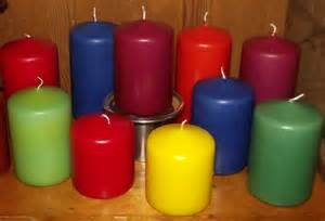 color candles dipped color pillar candle 3x4 5