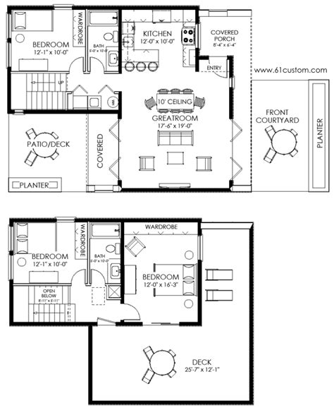 modern cabin floor plans small house plan ultra modern small house plan small