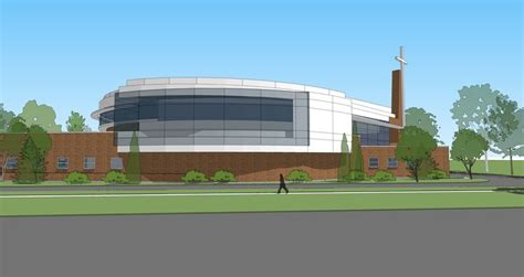 design concept church sanctuary and entry addition church church design