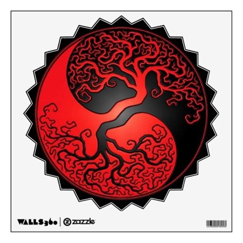 red and black yin yang tree