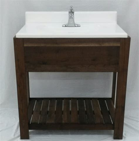custom built solid wood bathroom vanity beautifully designed