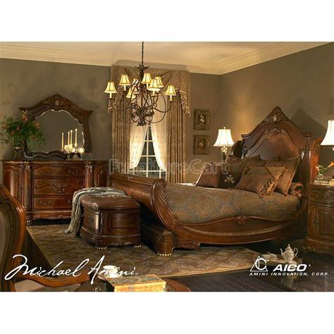 Cortina Bedroom Set | cortina sleigh bedroom set aico furniture furniture cart