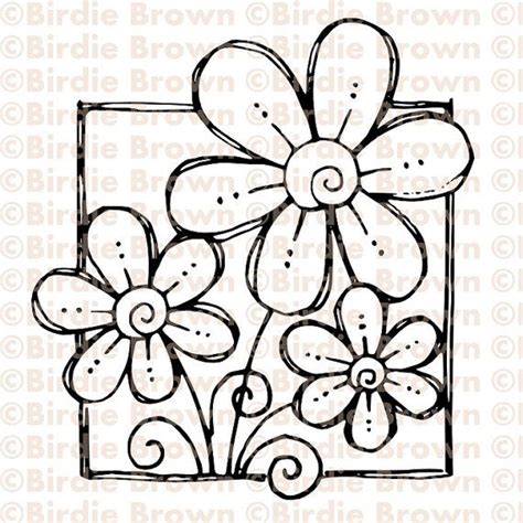 doodle flowers digital st doodled flower