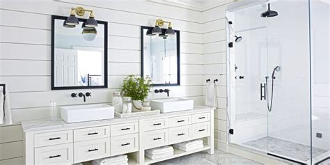 15 black and white bathroom ideas black amp white tile designs we love