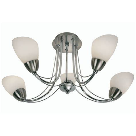 Electric Ceiling Light Fittings Altair 5x60w Ceiling Mounted Light Fitting In Chrome Oaks Lighting 8862 5 Ch