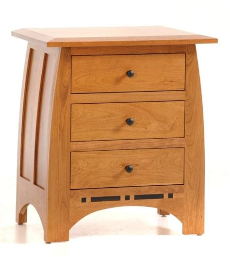 Nadine Collection Nightstand Amish Crafted - amish solid wood stand