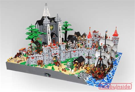 Lego Ship Castle netherbrick beautiful castle diorama