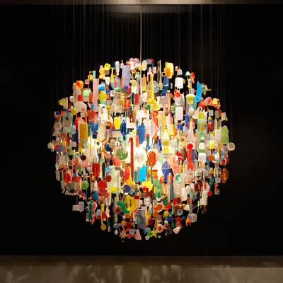 Stuart Haygarth Beautiful From Waste by Design Of The Day Tide Chandelier By Stuart Haygarth