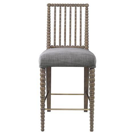gray linen counter stool mr brown beatrix modern oak bead counter stool grey
