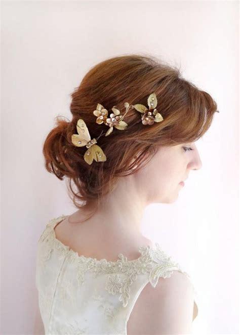 Hochzeitsschmuck Haare by Bronze Gold Hair Jewelry Bridal Hair Pins Formal Hair
