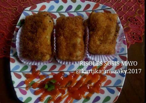 resep  risoles sosis mayo oleh kartika muzzaky cookpad