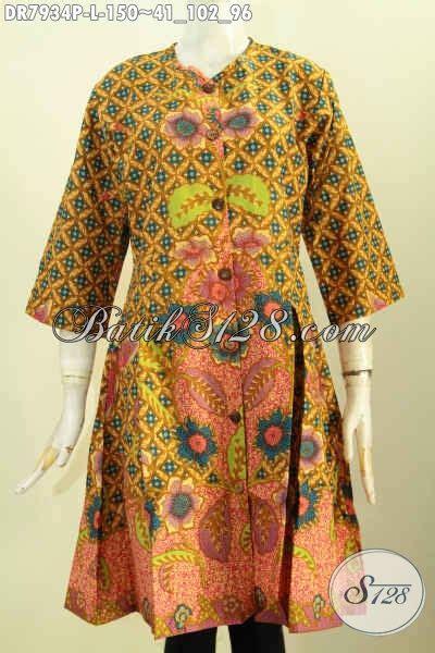 Istimewa Pakaian Wanita Dress Mimi jual batik dress modern wanita size l busana batik istimewa proses printing bahan adem
