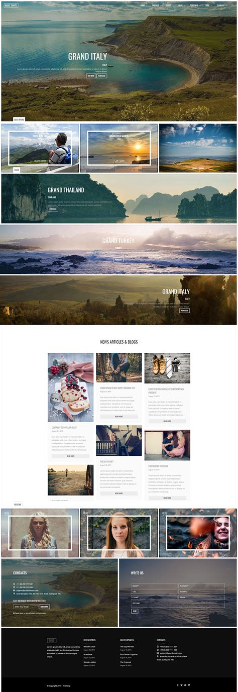 theme drupal single page 10 travel agency drupal themes free website templates