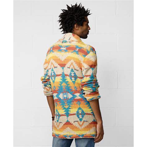 Pasmina Denim Motif 12 denim supply ralph southwestern shawl collar cardigan in multicolor for lyst