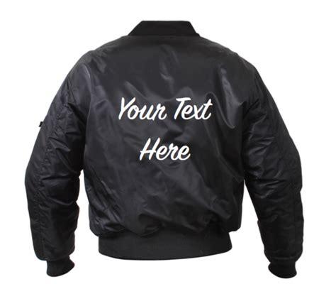 Customized Jacket Personalized Custom Bomber Jacket Front And Back