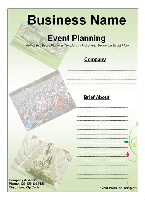 event planning business plan template event planning template 11 free documents in word pdf ppt