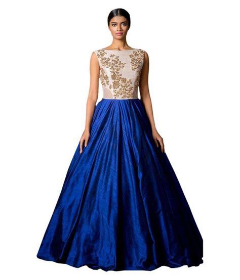 Gown Blue shreeji fashion blue silk gowns buy shreeji fashion blue