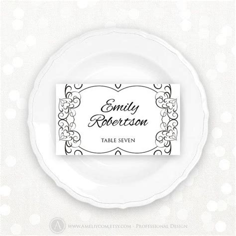 Wedding Place Cards Design Your Own by Best 25 Printable Place Cards Ideas On Print