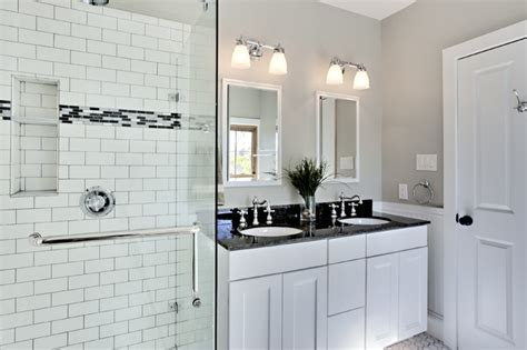 Subway Tile In Bathroom Ideas Bathroom Design Ideas White Bathroom Design With Subway Tiles Traditional Bathroom New