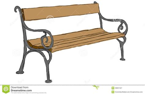 bench drawing vector hand drawn wooden bench royalty free stock