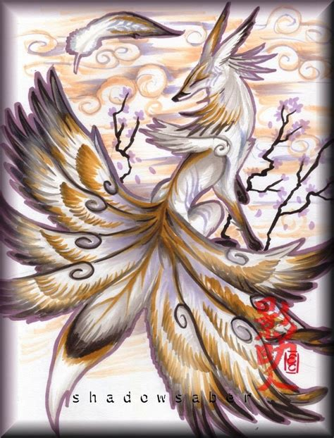 kitsune with wings cultural pinterest mitolog 237 a