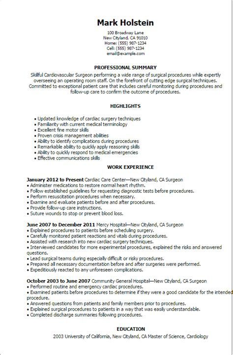 Sample Pediatric Nurse Resume by Professional Surgeon Templates To Showcase Your Talent