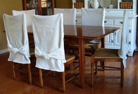 Diy Chair Covers Dining Room by How To Make Simple Slipcovers For Dining Room Chairs In